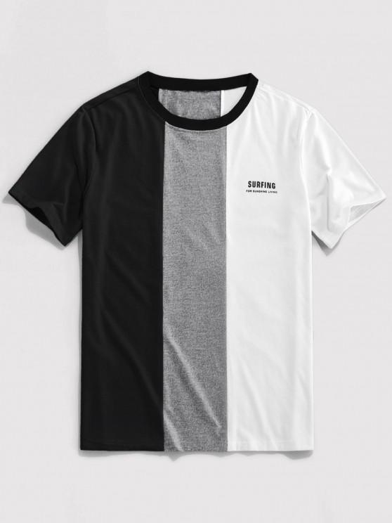 ZAFUL Carta Contraste de Impressão a Cores T-shirt - Preto M