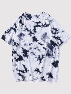 Short Sleeve Tie Dye Tee - Deep Blue L