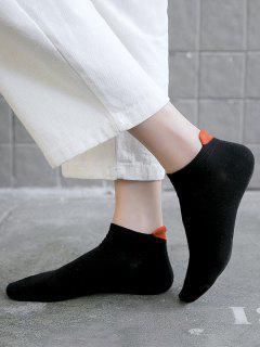 Chaussettes Socquettes Antidérapantes En Coton Avec Cœur 2 Paires - Noir