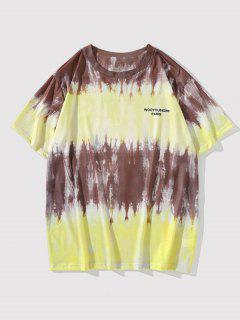 Krawattenfärben Buchstabe Kurzarm T-Shirt - Dunkle Goldrute L