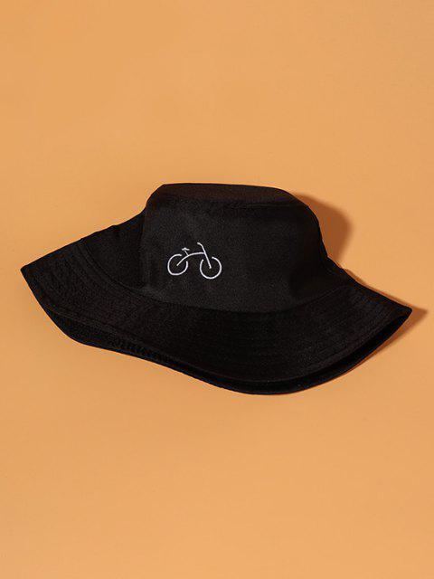 Chapeau Seau Décontracté Bicyclette Brodé pour Extérieur - Noir  Mobile