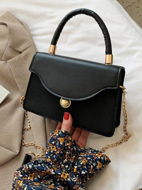 online Golden Ball Embellished Flap Chain Crossbody Bag - BLACK  Mobile