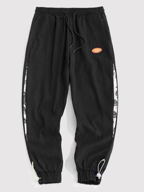 Pantalones Rayados Estampado Cachemir - Negro M Mobile