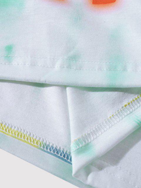 online NO PLASTIC Tie Dye T-shirt - MEDIUM TURQUOISE L Mobile