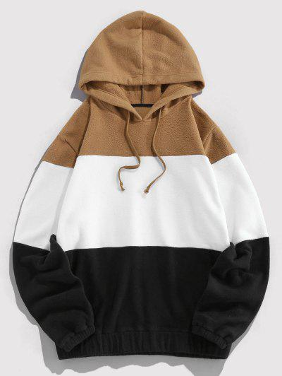 ZAFUL Drawstring Contrast Fleece Hoodie