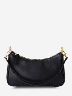Minimalistic Double Strap Shoulder Bag - Black