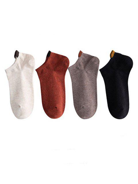 outfit 4 Pairs Cotton No Show Socks Set - MULTI-A  Mobile