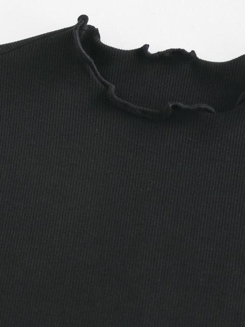 ZAFUL ZAFULMock Alface Guarnição T Shirt - Preto L Mobile