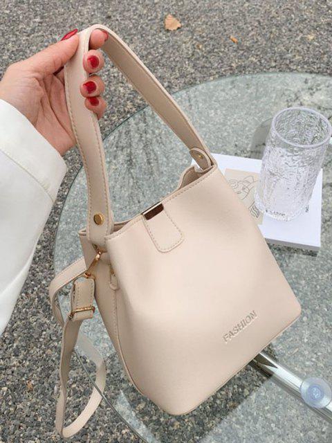 Sac Seau Lettre Gaufré en Couleur Unie à Double Poignée - Blanc Chaud  Mobile