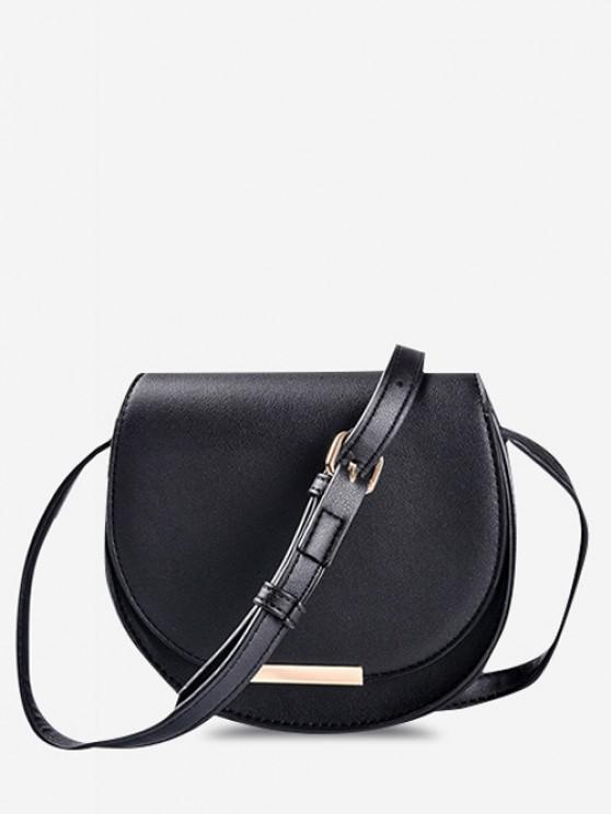 Umhängetasche Satteltasche mit Kleinem - Schwarz