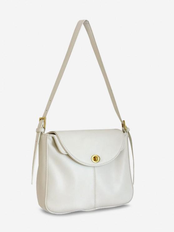 online Retro Cover Messenger Shoulder Bag - WHITE