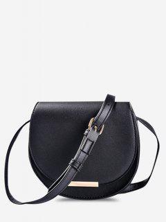 Cover Small Crossbody Saddle Bag - Black