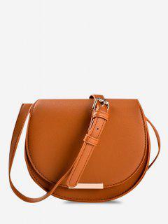 Cover Small Crossbody Saddle Bag - Brown