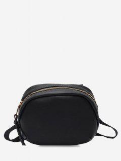 Small Oval Solid Crossbody Bag - Black