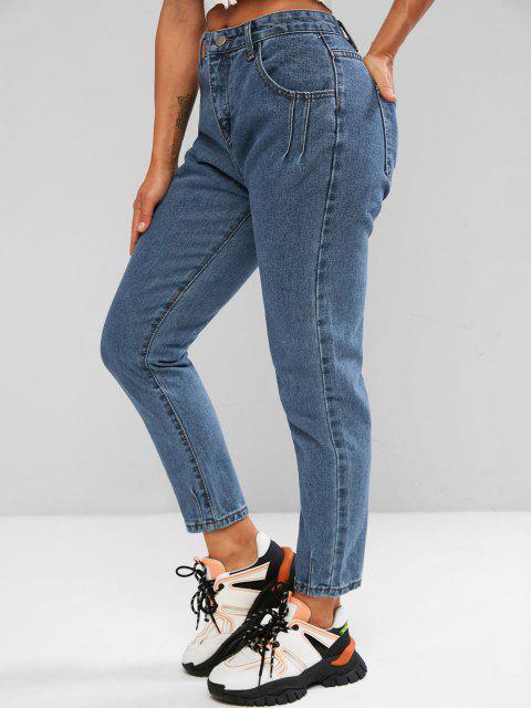 Jeans a Vita Alta - Blu M Mobile