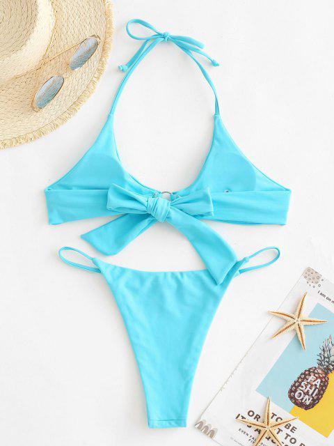 ZAFUL Costume da Bagno Bikini Incrociato e Surplice - Azzurro S Mobile
