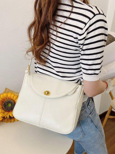 Borsa Messenger in PU Vintage - Bianca  Mobile