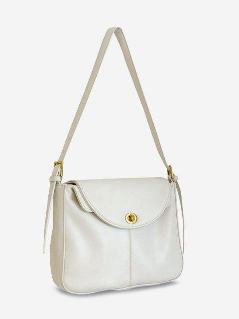 online Retro Cover Messenger Shoulder Bag - WHITE  Mobile