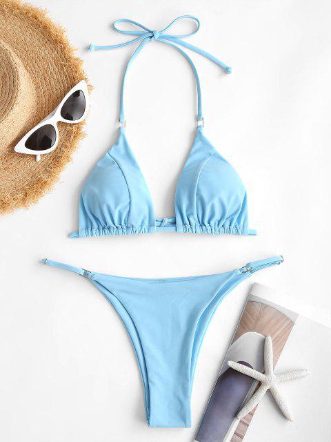 ZAFUL Costume da Bagno Bikini Stringato con Stampa Frutto Della Passione - Azzurro S Mobile