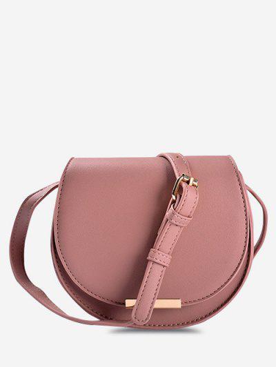 Cover Small Crossbody Saddle Bag - Pink