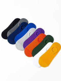10 Pairs Breathable No Show Socks Set - Multi-a