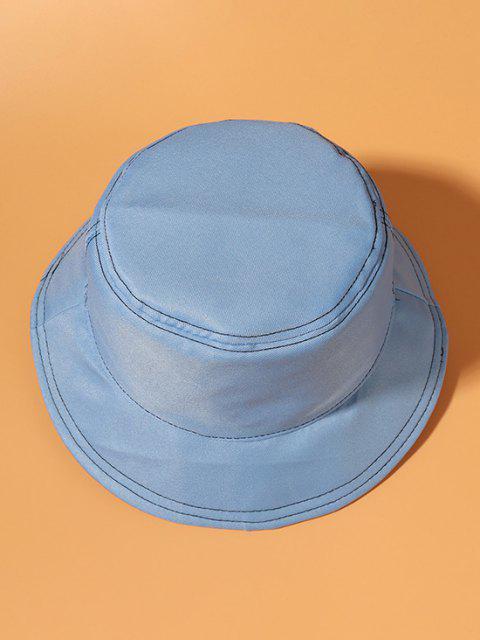 Metallische Cropped Detail Lässige Bucket Hut - Himmelblau  Mobile