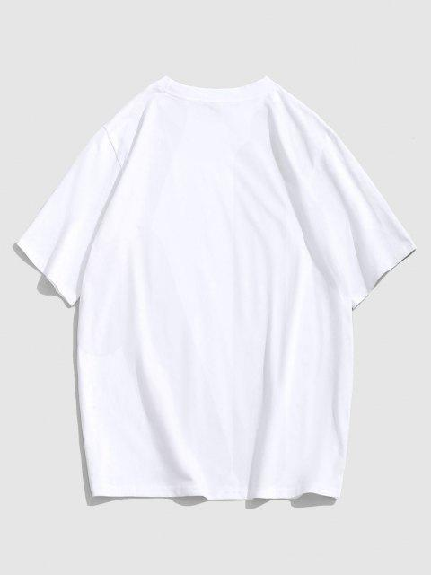 Maglietta Grafica di ZAFUL Casuale - Bianca L Mobile