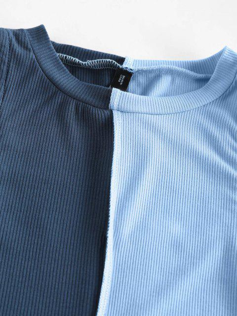 Canotta Corta a Costine a Blocchi di Colore di ZAFUL - Profondo blu L Mobile