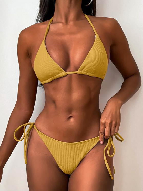 Bikini de Cuerdas Acanaladas - Amarillo de Autobús Escolar L