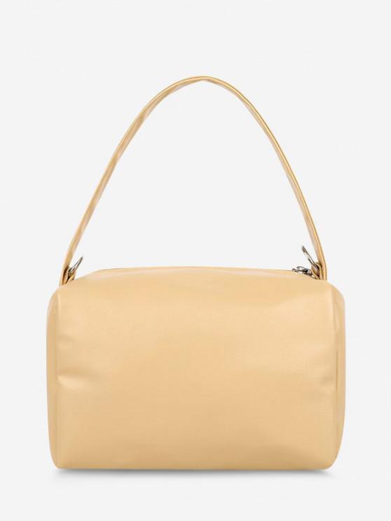 trendy PU Retro Chain Solid Tote Bag - LIGHT KHAKI