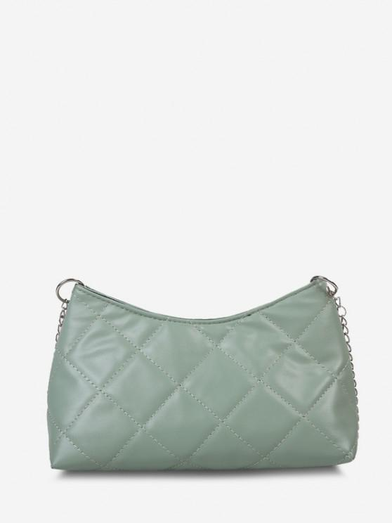 shop Quilted Chain Crossbody Bag - AVOCADO GREEN
