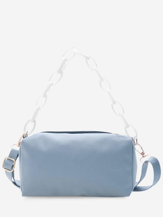buy Rectangle Chain Crossbody Bag - PASTEL BLUE