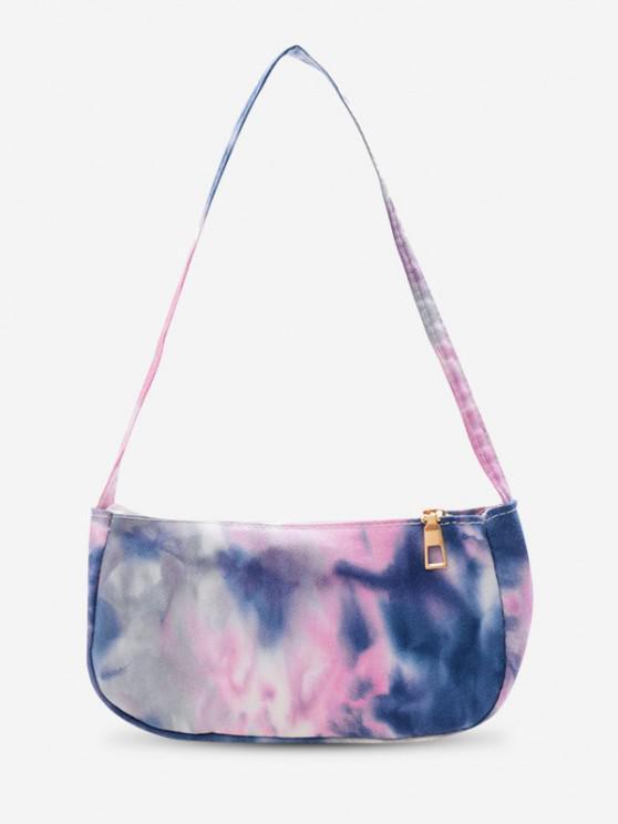 trendy Cotton Cloud Print Mini Shoulder Bag - LIGHT PURPLE