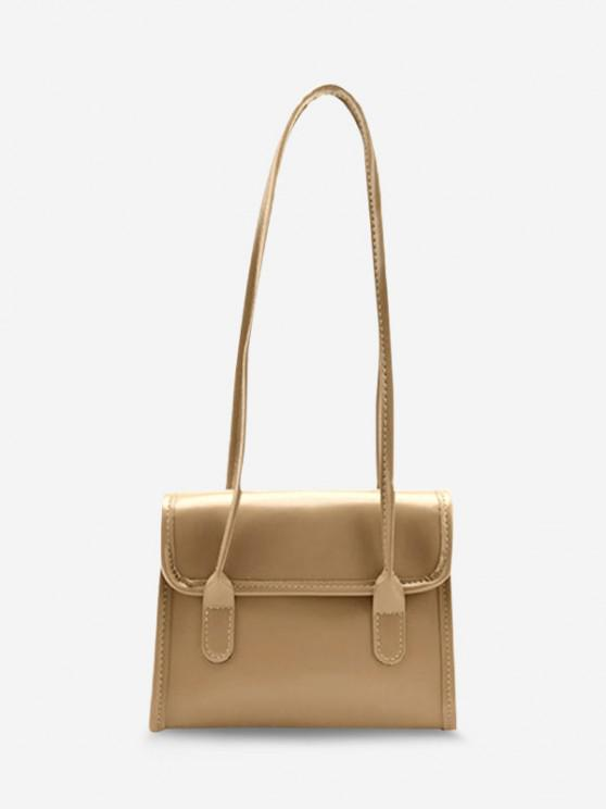 Retro Square Cover Shoulder Bag - ضوء الكاكي