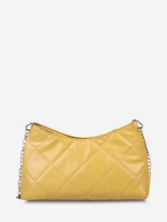 Quilted Chain Crossbody Bag - Sun Yellow