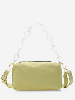 Rectangle Chain Crossbody Bag - Tea Green