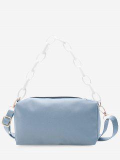 Rectangle Chain Crossbody Bag - Pastel Blue