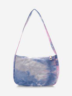 Cotton Colorful Print Shoulder Bag - Blue