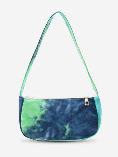 Cotton Cloud Print Mini Shoulder Bag - Deep Blue