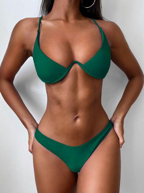 Hochdrückender Tauchbadeanzug - Mittleres Meer Grün M Mobile
