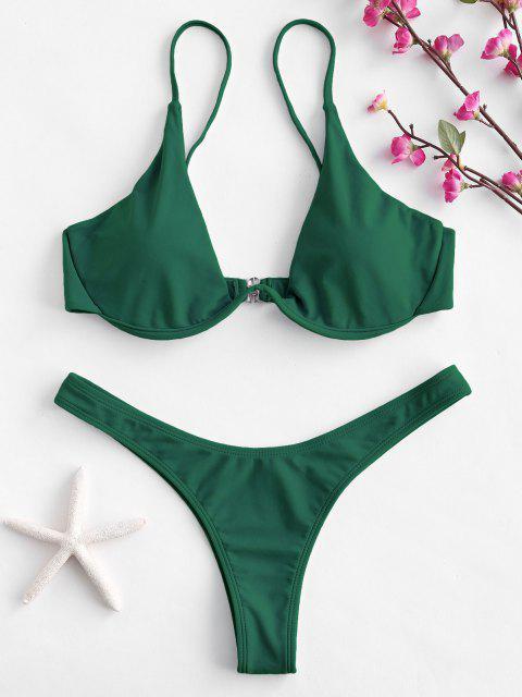 Hochdrückender Tauchbadeanzug - Mittleres Meer Grün L Mobile