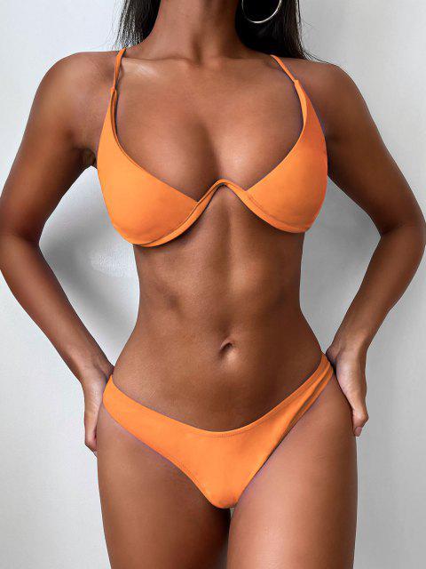 Bikini Con Scollo Profondo - Sandy Brown S Mobile