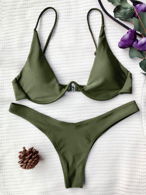 Hochdrückender Tauchbadeanzug - Grün L Mobile