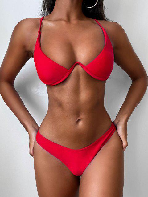 Hochdrückender Tauchbadeanzug - Rot L Mobile