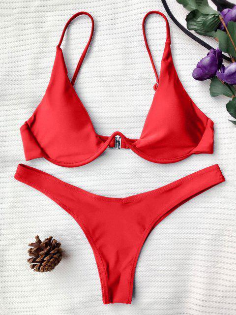 Bikini Con Scollo Profondo - Rosso M Mobile