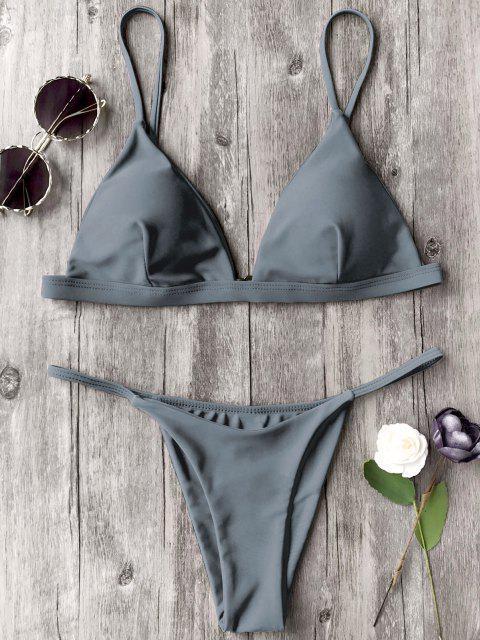 Bikini E Perizoma Con Cinghie Di Spallina Sottile - Grigio S Mobile