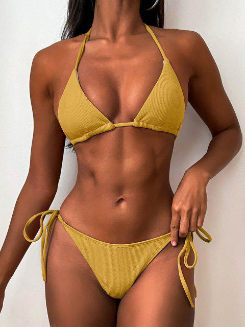 Bikini de Cuerdas Acanaladas - Amarillo de Autobús Escolar M Mobile