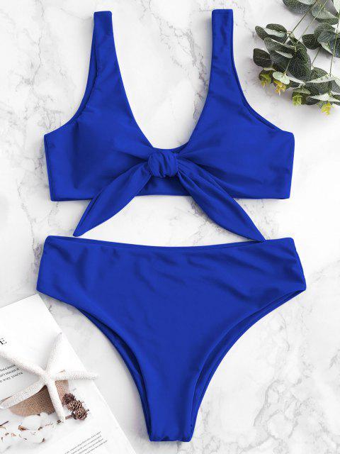 Bikini Acolchado Delantero con Lazo ZAFUL - Azul Cobalto M Mobile