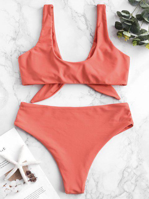 Bikini Acolchado Delantero con Lazo ZAFUL - Naranja de Amanecer M Mobile