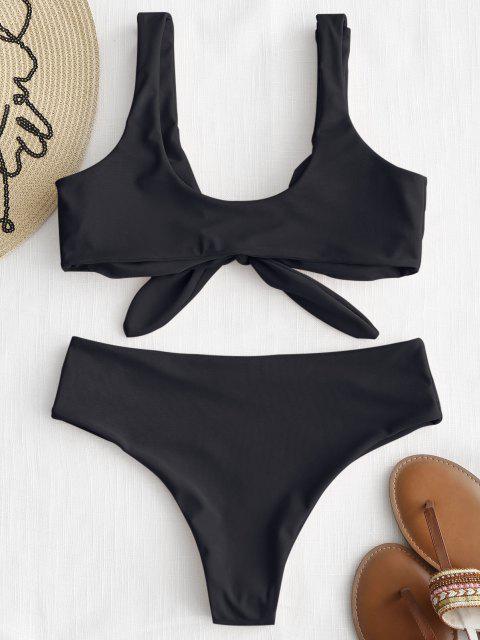 Bikini Acolchado Delantero con Lazo ZAFUL - Negro L Mobile